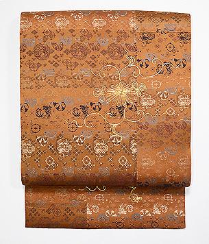 銀欄緞子地袋帯