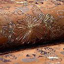 銀欄緞子地袋帯 質感・風合