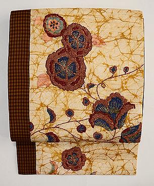 花唐草刺繍の名古屋帯