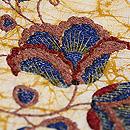花唐草刺繍の名古屋帯 質感・風合