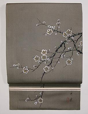 梅の図名古屋帯