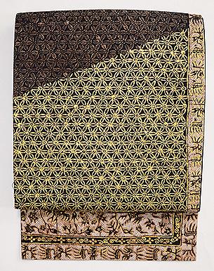 インドネシア金更紗の名古屋帯