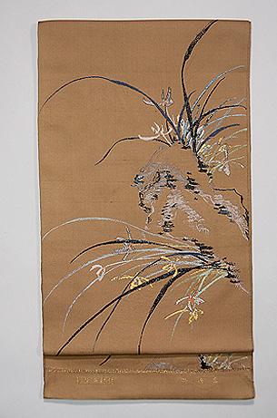 龍村平蔵製「蘭香錦」袋帯
