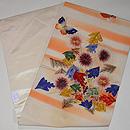 アザミと蝶刺繍名古屋帯 帯裏