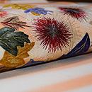 アザミと蝶刺繍名古屋帯 質感・風合