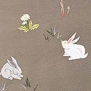 春の野原とうさぎの刺繍帯 質感・風合