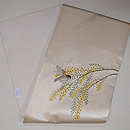 ミモザと小鳥刺繍帯 帯裏
