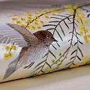 ミモザと小鳥刺繍帯 質感・風合