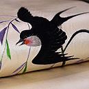柳に燕刺繍名古屋帯 質感・風合