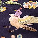 芥子の花と鳥刺繍名古屋帯 質感・風合