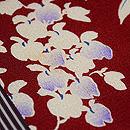藤の花の寄せ切れ名古屋帯 質感・風合