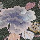 牡丹の刺繍開き名古屋帯 質感・風合
