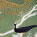 網干(あぼし)と鵜飼い江戸裂名古屋帯 質感・風合
