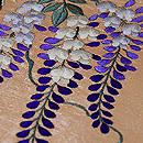 野の四季花々刺繍名古屋帯 質感・風合