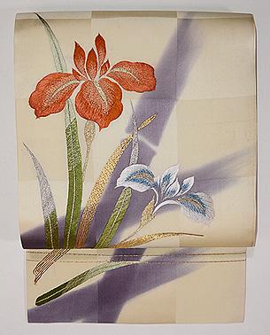 杜若(かきつばた)刺繍名古屋帯