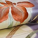 杜若(かきつばた)刺繍名古屋帯 質感・風合