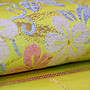 たつむら製 「秋草花の丸」袋帯 質感・風合