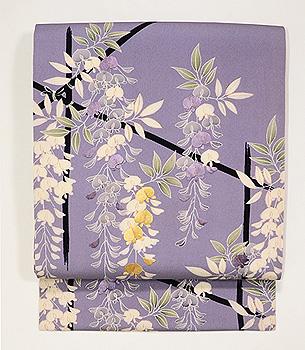 藤棚の刺繍名古屋帯