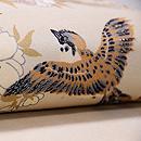 八重桜に雀の図名古屋帯 質感・風合