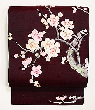 梅樹の刺繍名古屋帯