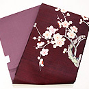 梅樹の刺繍名古屋帯 帯裏