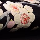 梅樹の刺繍名古屋帯 質感・風合