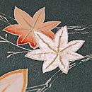 深川鼠色紅葉の付下 質感・風合
