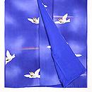 ブルー地群れ雀の小紋 上前