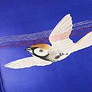 ブルー地群れ雀の小紋 質感・風合
