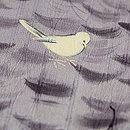 吹き寄せに小鳥の付下 質感・風合