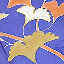 桔梗色に銀杏の訪問着 質感・風合