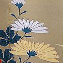 辛子色竹・蔦に菊の訪問着 質感・風合
