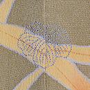辛子色竹・蔦に菊の訪問着 背紋