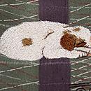 奴凧と眠り犬の付下 質感・風合