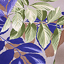 葉柄の小紋 質感・風合