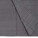 横縞の単衣ざざんざ織り こうげい扱い 上前