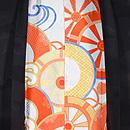 楽器文様の黒絵羽織 羽裏