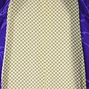 紫地、輪奈ビロードのコート 羽裏