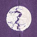 梅にウグイス色留袖 背紋