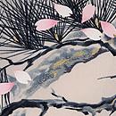 老松に桜吹雪訪問着 質感・風合