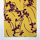 黄色地春蘭の小紋 上前