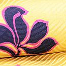 黄色地春蘭の小紋 質感・風合