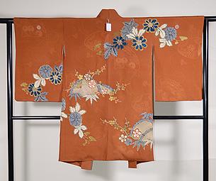 菊に竹梅の絵羽織