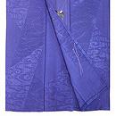 紺地ツバメの刺繍単衣付下 上前