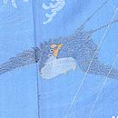 ブルー地荒磯にツバメの単衣小紋 質感・風合