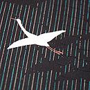 竹縞に群鶴の単衣小紋着物 質感・風合