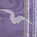 縦縞にカモメの単衣小紋着物 質感・風合