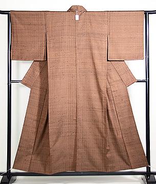 ざざんざ織り微塵格子の単衣