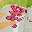 白樺にシャクナゲと葡萄の単衣訪問着 質感・風合