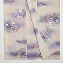 紋錦紗に花丸紋の単衣小紋 上前